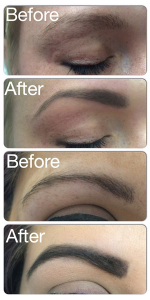 before after brow by mii