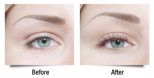 LVL Lashes Before & After